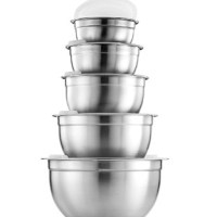AMAZON: (Set of 5) Premium Stainless Steel Mixing Bowls with Airtight Lids – PRICE DROP!