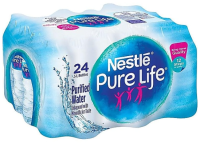 STAPLES: Nestle Pure Life Water 16.9Oz 24/Carton for $3.99 + Free Shipping! (Reg. Price $8.49)