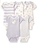 AMAZON: Gerber 5-pack Multi Size Organic Short Sleeve Onesies Bodysuits $7.94 ($15)