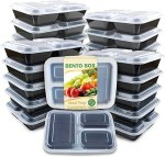 AMAZON: 20 Pack Enther 3 Compartment Meal Prep Containers For $16.99 + FREE Prime Shipping!
