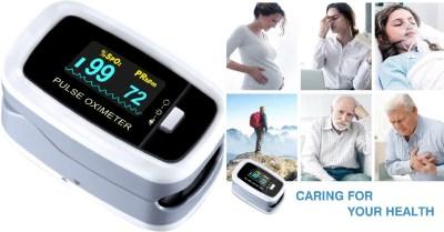 AMAZON: Pulse Oximeter Fingertip, Pulse Oximeter Finger Oximetry SPO2 Blood Oxygen $21.4 ($59)