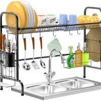 AMAZON: GSlife Stainless Steel Dish Rack Over Sink Shelf – 40% OFF!