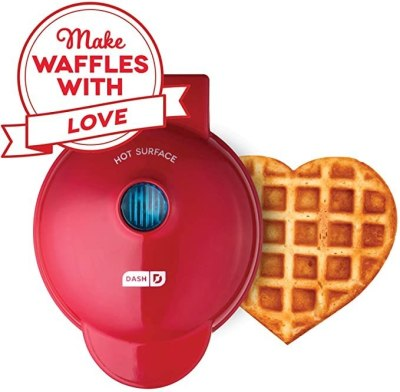 AMAZON: Dash Mini Heart Maker Waffle Iron Shaped Goodness For $10 + Free Prime Shipping!