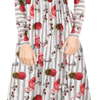 Amazon : Women's Floral Print Striped Dress Just $10.99 W/Code (Reg : $29.99)