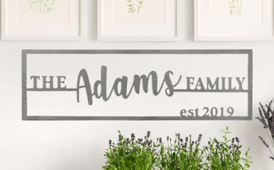 Jane: Customizable Steel Family Name Plaques for ONLY $19.99 + FREE Shipping (Regularly $70)
