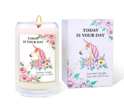 AMAZON: Beautiful Unicorn Scented Candle Soy Wax Candle Gift Set – PRICE DROP!