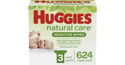 AMAZON: HUGGIES Natural Care Baby Wipes, 3 Packs, 624 Total Wipes $12 ($15.99)