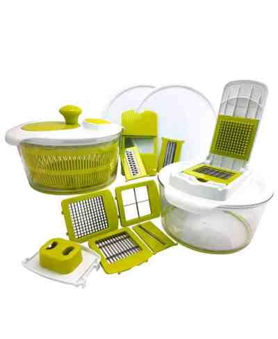 Macy's: 10-in-1 Multi-Use Salad Spinning Slicer and Storage Lids, Just $25.59 after code!