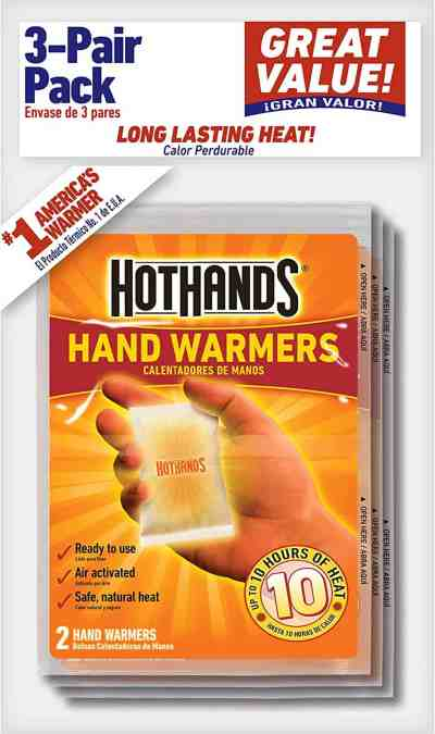 Amazon: 3 Pairs HotHands Hand Warmers for $1.97 (Reg.Price $3.43)