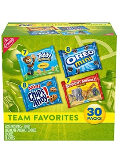 Amazon: 30 Nabisco Team Favorites Variety Pack for $6.32