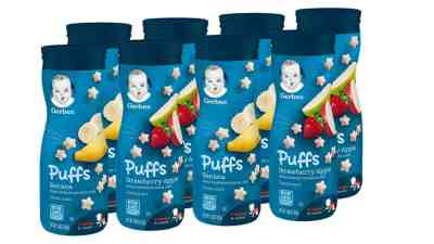 Amazon: 8 Count Gerber Puffs Cereal Snack, Banana & Strawberry Apple for $9.98