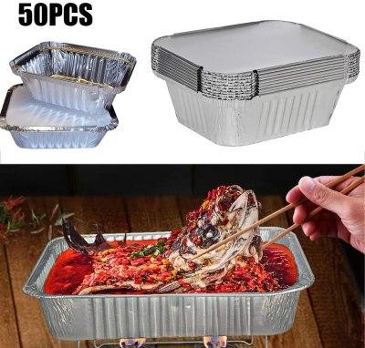 Amazon: Aluminum Foil Baking Pans w/ Lids, 50 Pack Disposable $13.2 ($66)