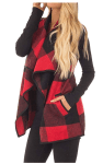 Amazon: Women Lapel Open Front Sleeveless Plaid Vest Cardigan Coat Jacket with Pockets, Just $25.99