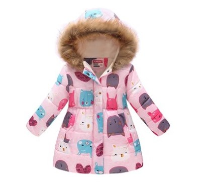 Amazon: 60% OFF on UWBACK Hooded Winter Coat for Girls