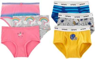 Carter's: Buy 1 Get 1 FREE Carter's Kids Underwear Multipacks (Starting at JUST $1.80 Each)