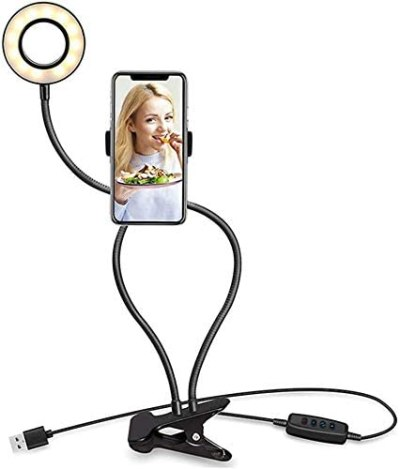 Amazon: Andoer Ring Light with Stand Cell Phone Holder For $17.99 (Original Price $29.99)