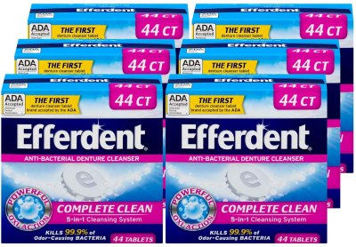 Amazon: Efferdent Anti-Bacterial Denture Cleanser,44 Count, Just $5.10 (Reg $20.94)