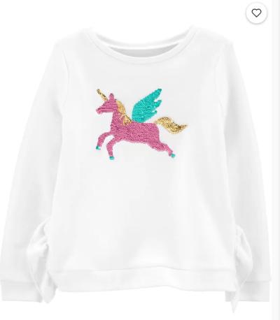 Carter's: Flip Sequin Pegasus Fleece Sweatshirt $6.99 (Was $38)
