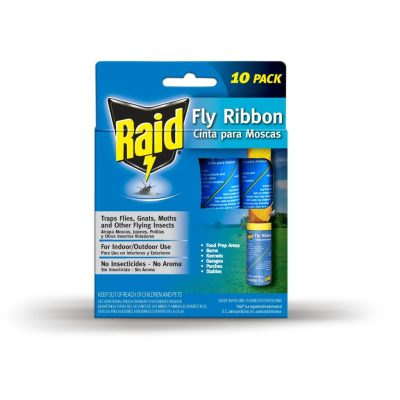 Walmart: RAID® Fly Ribbons, 10 Count, Outdoor & Indoor Fly Traps For $9.19 (Was $11)