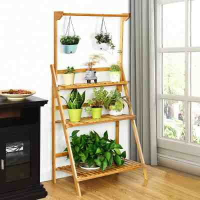 Walmart: Costway 3 Tier Bamboo Hanging Folding Plant Shelf Stand $59.99 (Reg $139.99)
