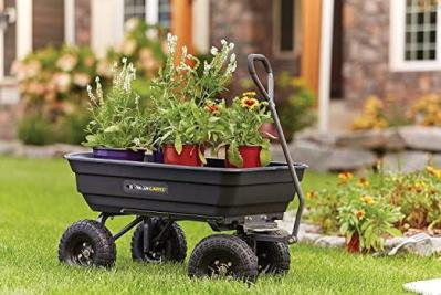 Amazon: Gorilla Carts GOR4PS Poly Garden Dump Cart For $89.99 (Reg. $109.99)