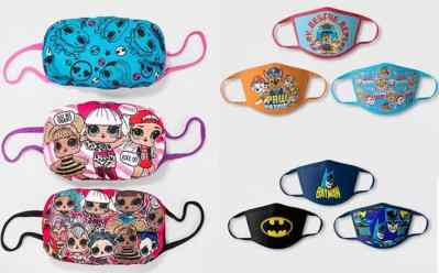 Target: Kids Character Face Masks 3-Pack Only $10!