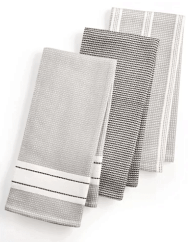 Mac's: 3-Pc. Waffle Weave Kitchen Towels for $13.99 (Reg. $29.00)