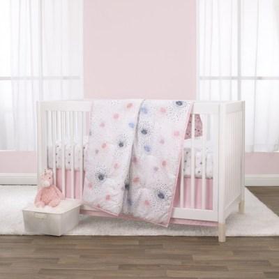 Walmart: Little Love By NoJo Pink Starburst 3 Piece Crib Bedding Set For $40 (Was $65)