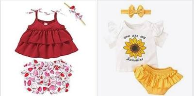 Amazon: 3PCS Newborn Toddler Baby Girl Clothes Outfits, 35% off after code!