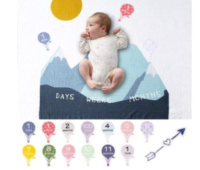Amazon: Organic Baby Monthly Milestone Blanket for $9.03 (Reg. Price $19.99)