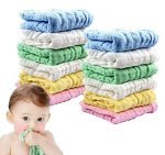 Amazon: Pack of 12 Muslin Baby Washcloths for $8.70 (Reg. Price $15.95)