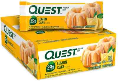 Amazon: New Quest Nutrition Lemon Cake Bar, 12 Count ONLY $15.20