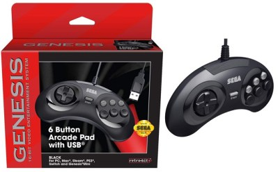 Best Buy: Retro-Bit SEGA Genesis 6-Button Arcade Pad for ONLY 9.99 (Reg $20)