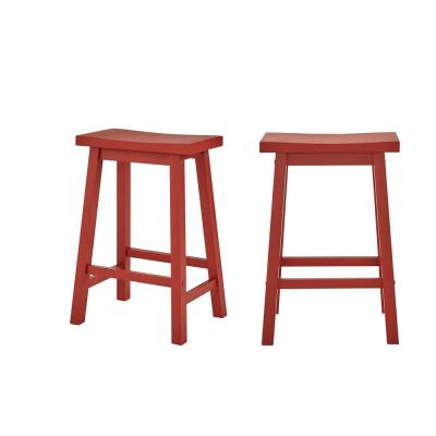 Home Depot: StyleWell Chili Red Wood Counter Stool (Set Of 2) For $47.40 (Was $79)