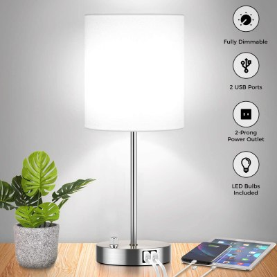 Amazon: Fully Dimmable Table Lamp with USB Ports For $34.99 (Orig. Price $49.99)