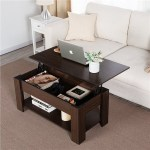 Walmart: Modern Wood Lift Top Coffee Table with Hidden Compartment & Lower Shelf $87.00