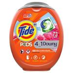 Amazon: Tide Pods with Downy Detergent Pacs, 73 Count Now $16.08