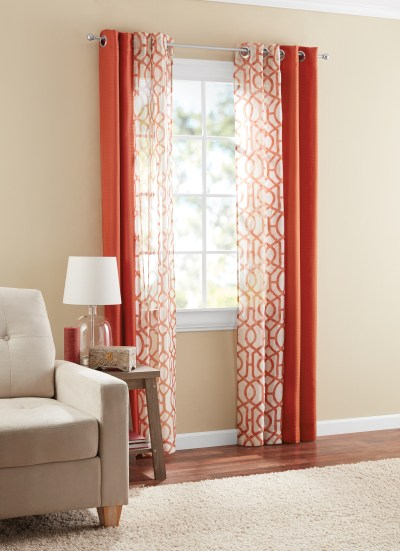 Walmart: Mainstays Kingswood Window Curtain Set, 4 Piece For $11.98 (5 Colors)