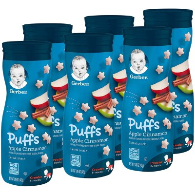 Amazon: Gerber Puffs Cereal Snack, Apple Cinnamon, 1.48 Ounce, 6 Count – Clip Coupon!