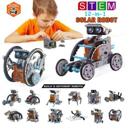 Amazon: 12-in-1 STEM Education DIY Solar Robot Toys, Just $17.49 (Reg $34.98) after code!