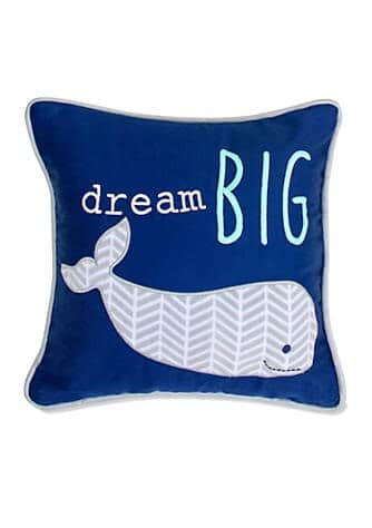Belk: Wendy Bellissimo Infant Boys Landon Whale Pillow ONLY $15.99 (Reg $20)
