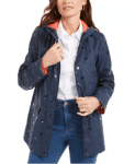 Macy's: Charter Club Embossed-Dot Hooded Jacket for $26.93 (Reg. Price $99.50)