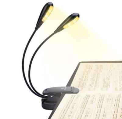 Amazon: Clip On Bed Reading Book Lamp for $3.19 (Reg. Price $7.99)