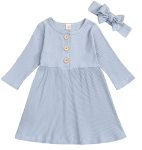 Amazon: Long Sleeve Dress with Headband For $4.99 - $6.99