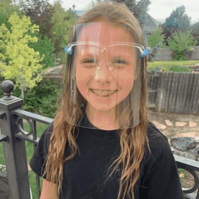 Jane: Kids Size Face Shields | Glasses Style Only $7.99! (Reg. $20)