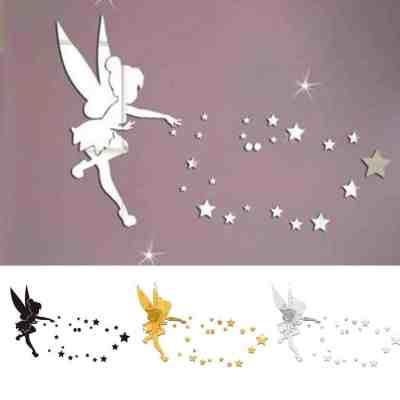 Amazon: Fairy Blowing Stars Acrylic Mirror Wall Sticker For $4.59