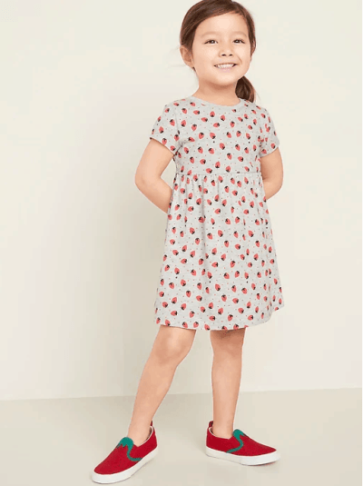 Old Navy: Printed Fit & Flare Dress for Toddler ONLY $5.57 (Reg $17)