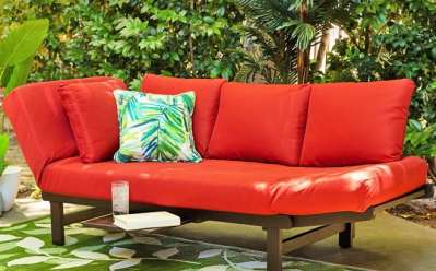 BCP: Outdoor Convertible Acacia Wood Futon Sofa JUST $299.99 (Reg $500)