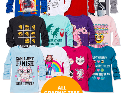 The Children's Place: Graphic Tees JUST $3.99 or Less Shipped!