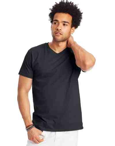 Hanes: Men's Nano-T V-Neck T-Shirt ONLY $5 (Reg $10)